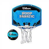 Набор-игра детская баскетбольная Wilson HOOP FANATIC MINI BSKT HOOP SS19 синий/черный (WTBA00436)