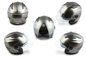 Шлем открытый   (mod:DH958) (size:L, черный)   HELMO