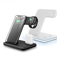 Беспроводная зарядка,быстрая зарядка 3 в 1 iPhone AirPods iWatch