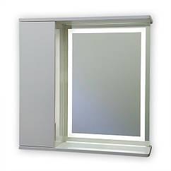 Зеркальный шкаф с LED подсветкой ШК703 (700х700) дверь слева