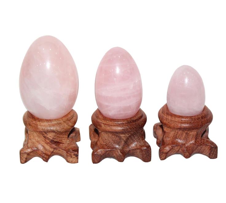 Яйца Йони из розового кварца,Yoni в наборе 3 шт (Yoni Egg )