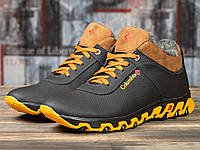 Мужские зимние ботинки на меху в стиле Columbia, натуральная кожа, полиуретан, черные *** 42 (28 см)