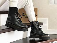 Женские зимние ботинки на меху в стиле Dr. Martens Jadon, натуральная кожа, полиуретан, черные 38 (23,8 см)