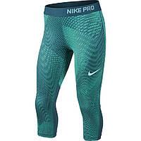 Капри детские леггинсы бриджи спортивные зеленые Nike (Размер 146-158, 12-13 лет)