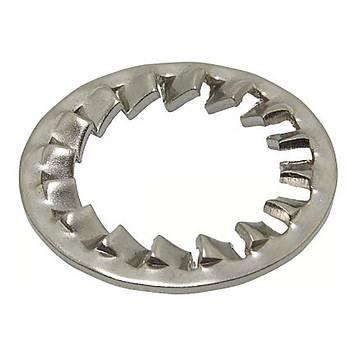 Шайба стопорная зубчатая нержавеющая MMG DIN 6797  M4  (A2) 10 шт