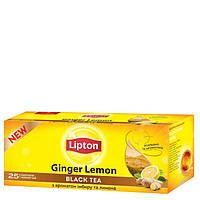 Чай черный Lipton Ginger Lemon 25*1,8г/уп