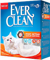 123435 Ever Clean Fast Acting наполнитель комкующийся без запаха, 6 л