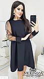 """Вечернее платье с прозрачными длинными рукавами, сеточка """"Муза"""".Распродажа, фото 7"""