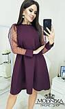 """Вечернее платье с прозрачными длинными рукавами, сеточка """"Муза"""".Распродажа, фото 3"""