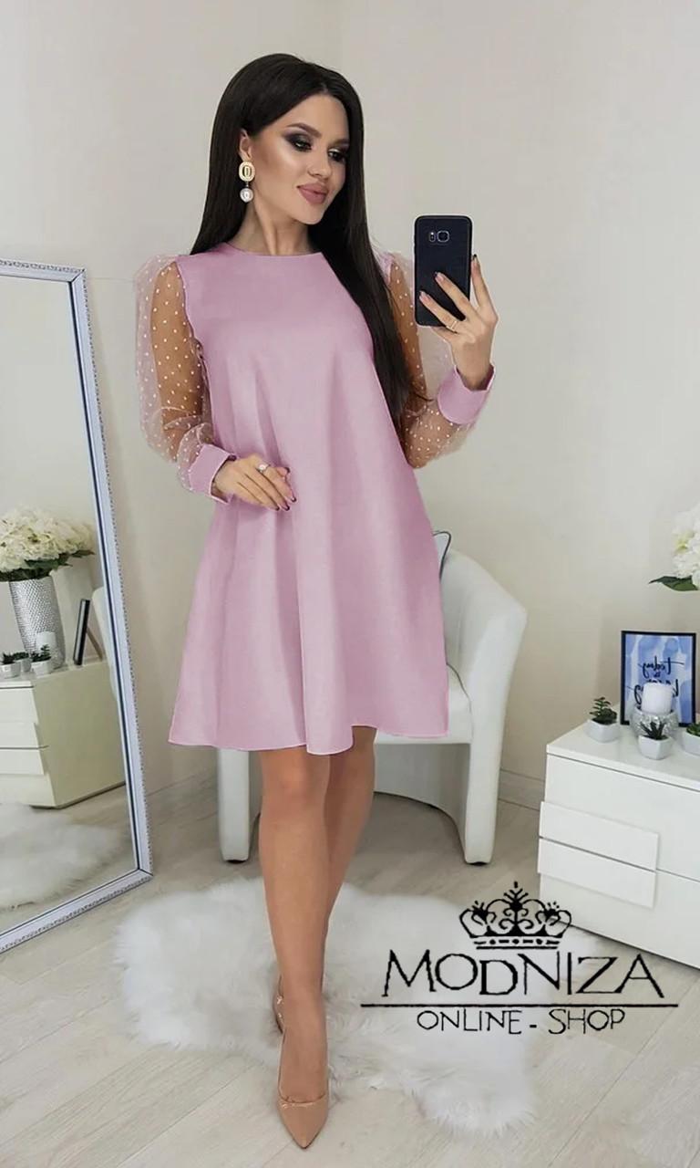 """Вечернее платье с прозрачными длинными рукавами, сеточка """"Муза"""".Распродажа"""