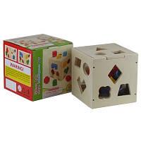 Куб сортер с лабиринтом Детский Деревянный сортер квадрат 00-661