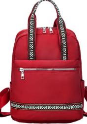 Стильная сумка Рюкзак женская красная