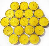 Набор чайных свечей из пчелиного воска в гильзе 18 шт, фото 2