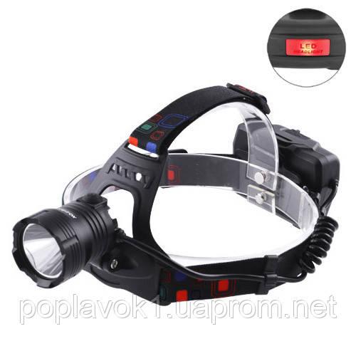 Фонарь налобный XQ-219-HP50, ЗУ microUSB, 3x18650, signal light, Box