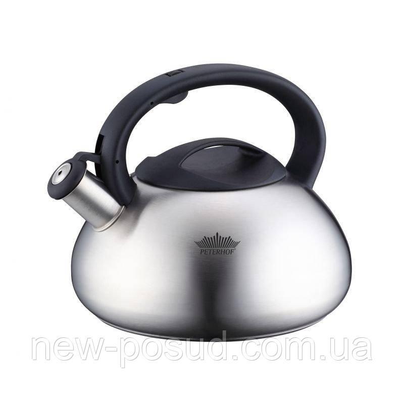 Чайник со свистком цельнолитой Peterhof 3,0л PH15637