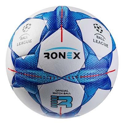 Мяч футбольный гибрид Ronex FN синий RHB