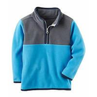 Флісова кофта, светр, реглан поддева Carters для хлопчика сіро-блакитна