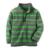 Флісова кофта, светр, реглан поддева Carters для хлопчика сіро-зелена