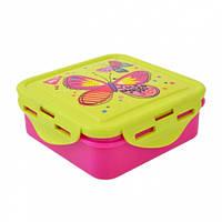 Контейнер бокс для еды  ланчбокс   Butterfly  380мл  706878