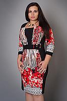 Красивое женское платье повседневное большого размера