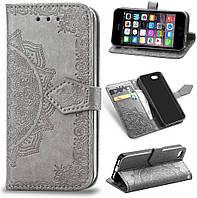 Чехол Vintage для Iphone 6 Plus / 6s Plus книжка кожа PU серый, фото 1