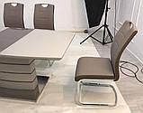 Мягкий стул S-110 капучино + латте кожзам Vetro Mebel, фото 3