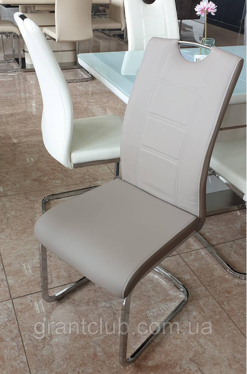Мягкий стул S-110 капучино + латте кожзам Vetro Mebel
