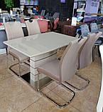 Мягкий стул S-110 капучино + латте кожзам Vetro Mebel, фото 4