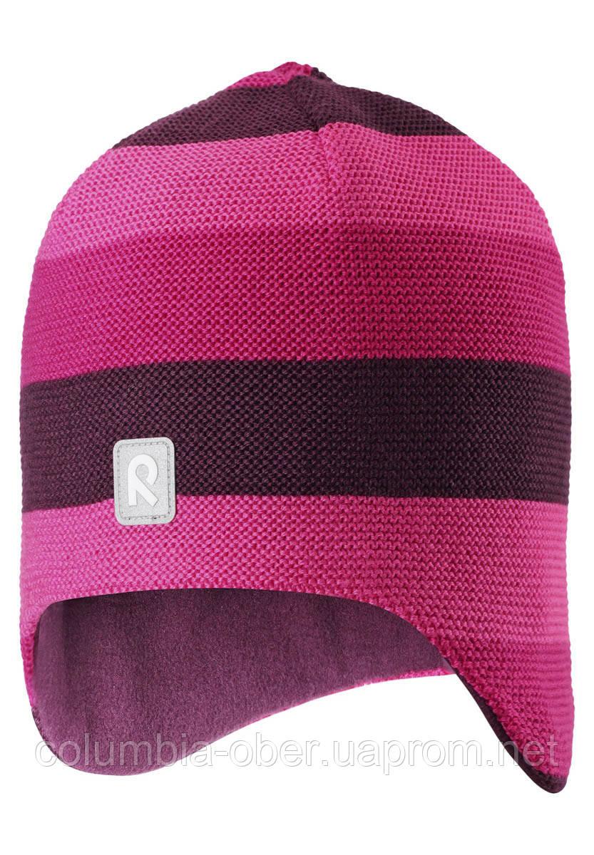 Зимняя шапка-бини для девочки Reima Huurre 528643-4651. Размеры 52 - 58.