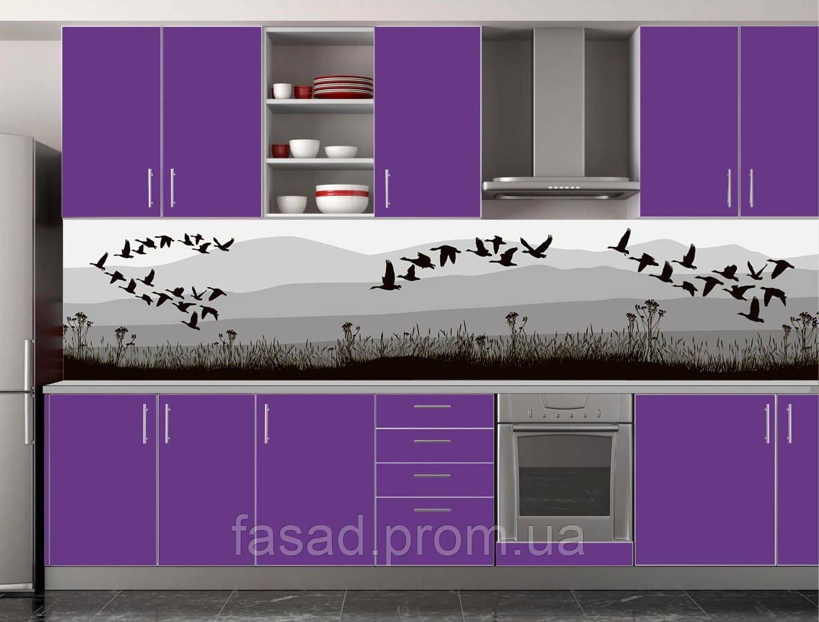 Скіналі для кухні (ламінована наклейка) Кухонний фартух розмір 600*3000 мм. Код-10348
