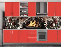 Скіналі для кухні (ламінована наклейка) Кухонний фартух розмір 600*3000 мм. Код-10869