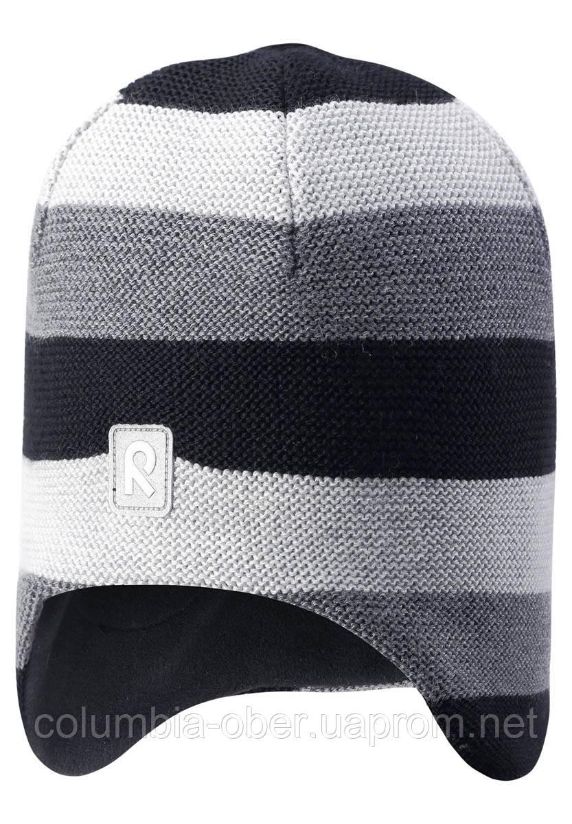 Зимняя шапка-бини для мальчика Reima Huurre 528643-9991. Размеры 54 и 58.