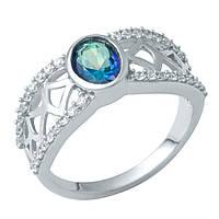 Серебряное кольцо Янина с топазом мистик и фианитами 000074791 18.5 размер