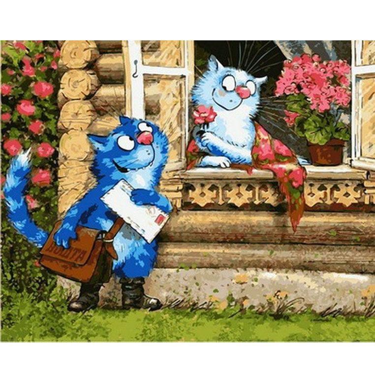 Картина раскраска по номерам на холсте 40*50см Babylon VP882 Любовное послание