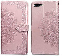 Чехол Vintage для Iphone 7 Plus / 8 Plus книжка кожа PU розовый, фото 1