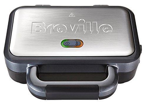 Тостер Breville Deep Fill зі змінними пластинами, з антипригарним покриттям, нержавіюча сталь