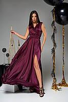 Длинное шелковое платье большого размера (S, M, L, XL, XXL)