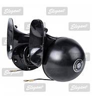 Автомобильный сигнал звуковой 12v улитка черный Волга 115mm  Elegant 100791