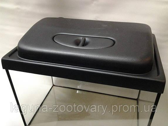 Крышка на террариум 40 х 25см, черный пластик, фото 2