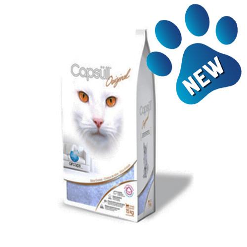 Apsull Original (baby powder) КАПСУЛ ОРИДЖИНАЛ кварцевый наполнитель для туалетов кошек 1,8кг
