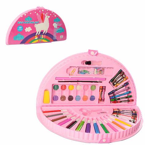 Набор для творчества MK 3918-2-2 (Лама) акв.краски, фломастеры, карандаши, в пенале, 36-20-4см, фото 2