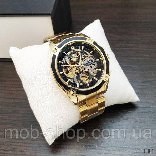 Наручные часы Forsining 8130 Gold-Black Оригинал годовая гарантия на механизм