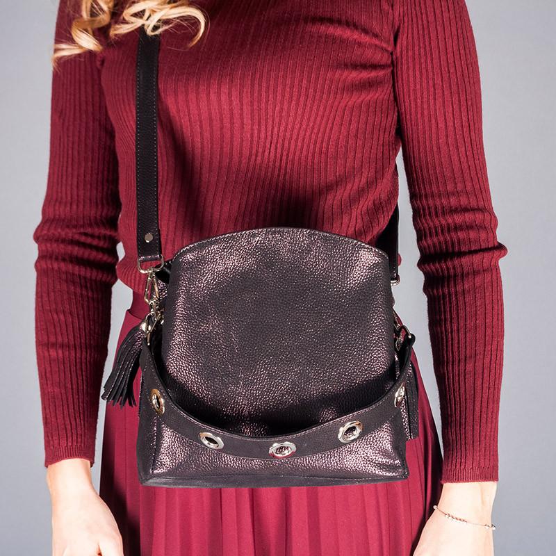 Модная сумка женская из натуральной кожи бордового цвета с перламутром. Цвет на выбор. Индивидуальный пошив.