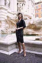 """Приталенное кожаное миди-платье """"Antonia"""" на кнопках (3 цвета), фото 3"""