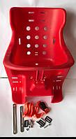 Кресло детское на велосипед   (пластик) (красное)   SVT