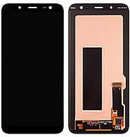 Дисплей (экран) для телефона Samsung Galaxy A6 A600 (2018), A600F (Super AMOLED) + Touchscreen Original Black