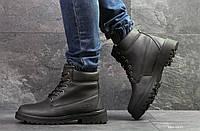 Ботинки Timberland черные  зима , код6823