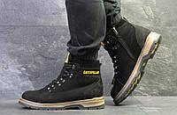 Ботинки Caterpillar черные  зима , код6622