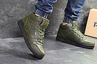 Кроссовки Reebok темно-зеленые  зима , код6851