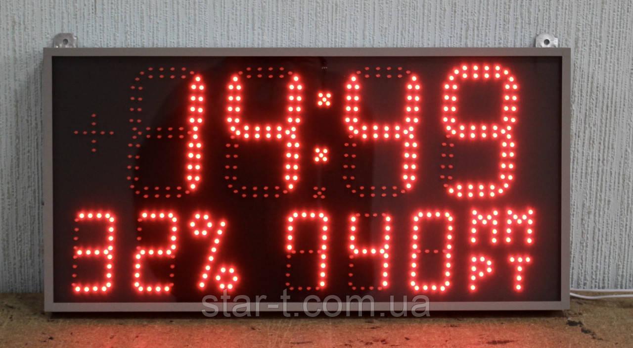 Метеостанция часы термометр барометр гигрометр светодиодные